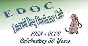 Emerald Dog Obedience Club - celebrating over 50 years (1958 - 2008)